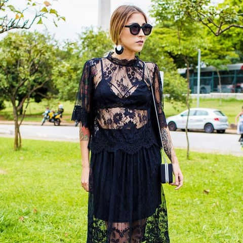 How to Wear Black In Summer: Don't be afraid to break out your black lace.