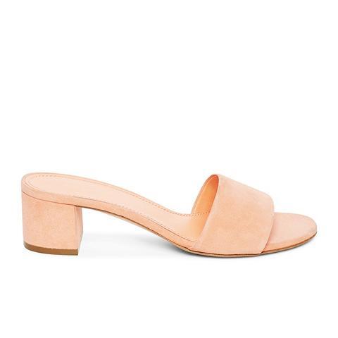 Single Strap Sandal in Coral
