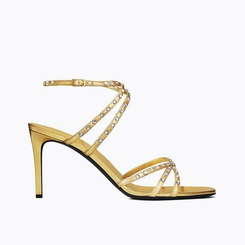 Kate Studded Sandal in Gold