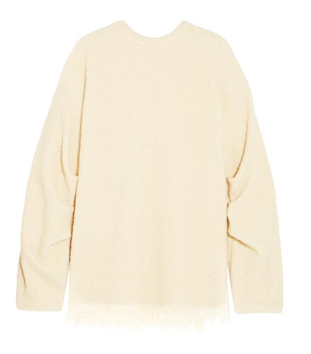 Victoria Beckham Frayed Wool-Blend Bouclé Sweater