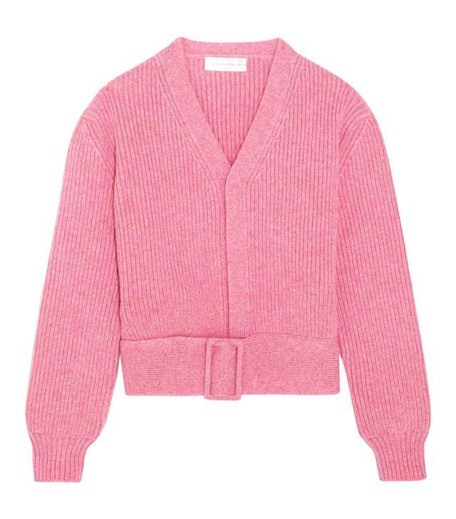 Victoria Beckham Belted Wool Cardigan