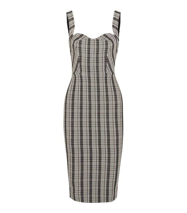 Victoria Beckham Checked Woven Dress