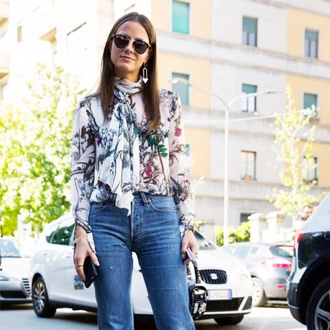 The Top-and-Denim Combo Fashion Girls Can't Stop Wearing