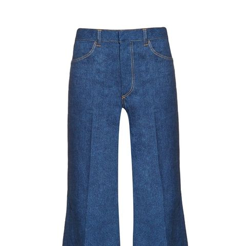 Wide-Leg Flared Jeans