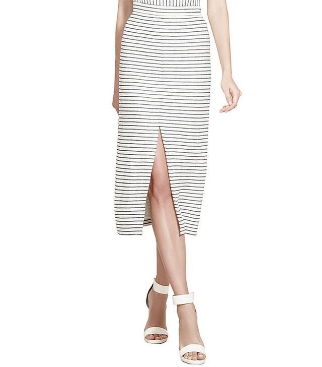 Alice and Olivia Sabrena Front Slit Midi Skirt