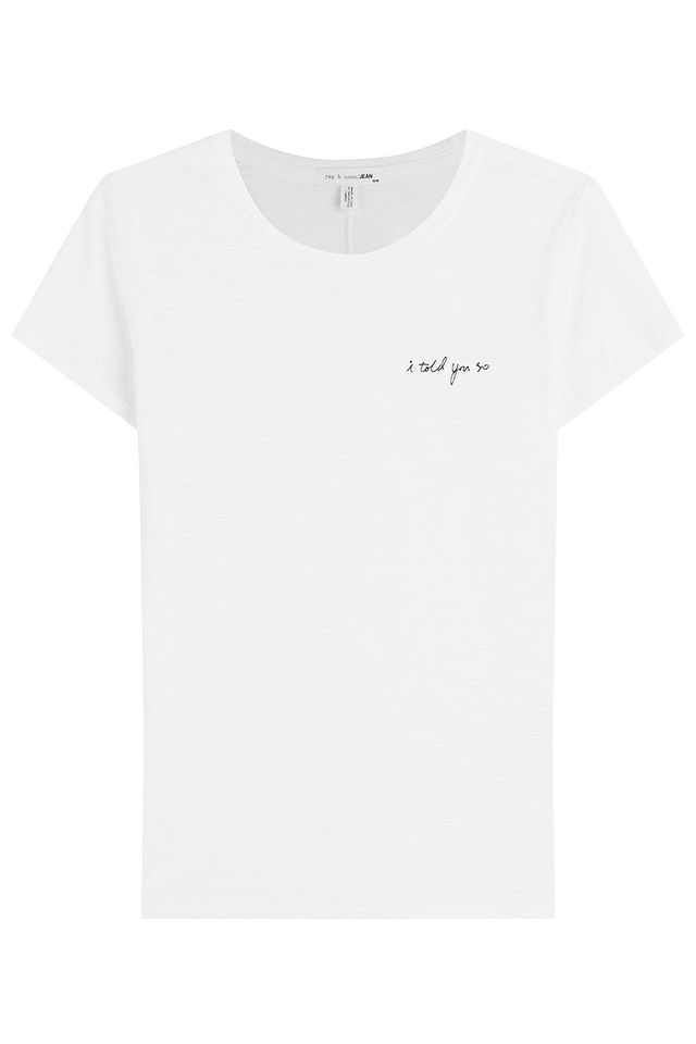 Rag & Bone Cotton T-Shirt With Embroidery