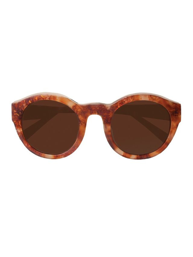 Kate Young for Tura Samantha Oval Frame Sunglasses