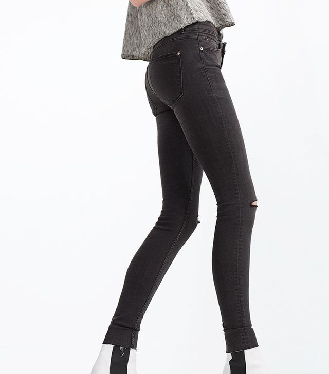 Zara Body Curve Jeggings in Anthracite Grey