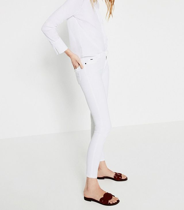 Zara Skinny Jeggings in White