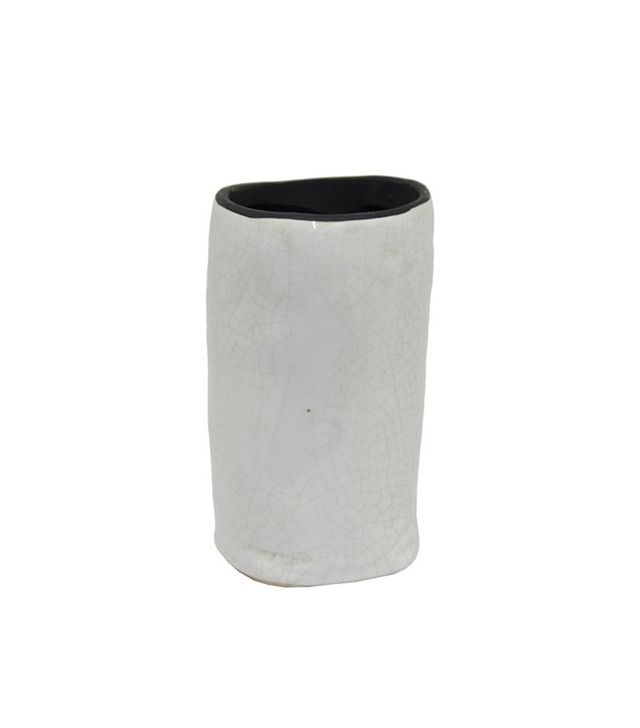 One Kings Lane Medium Crackled Ceramic Vase
