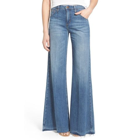 The Wide Leg High Rise Released Hem Jeans