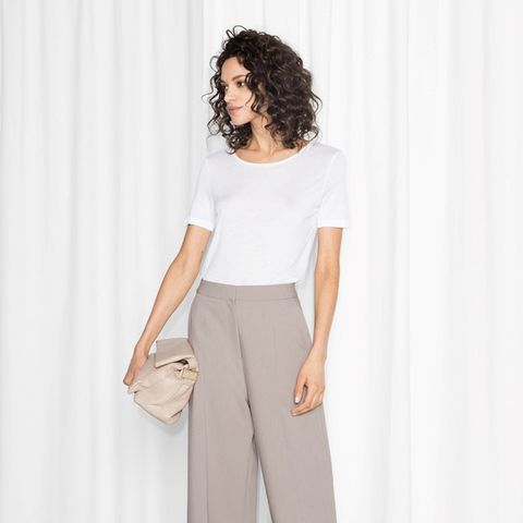 High-Waisted Wide-Leg Trousers