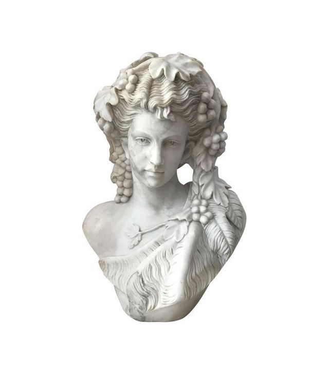 Chairish White Marble Bust