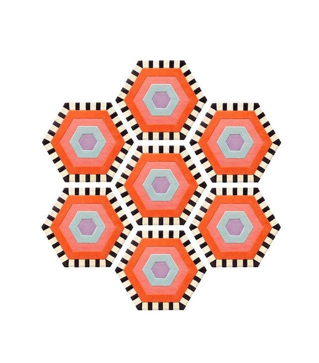 Kinder Modern Swizzle Honeycomb Modular Rug