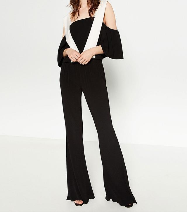 Zara Mid-Rise Flared Trousers