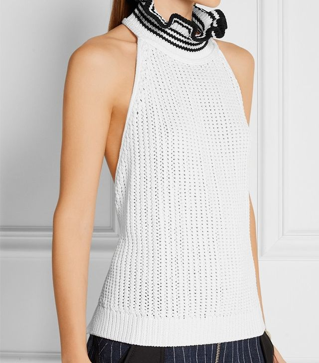 3.1 Phillip Lim Backless Ribbed Cotton-Bland Top