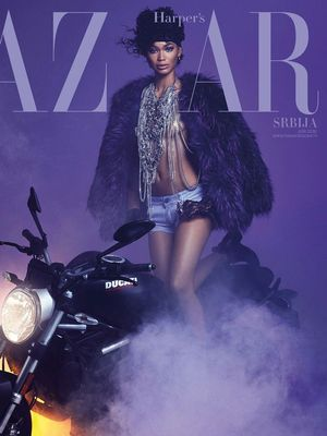 Chanel Iman Shot an Amazing Fashion Tribute to Prince