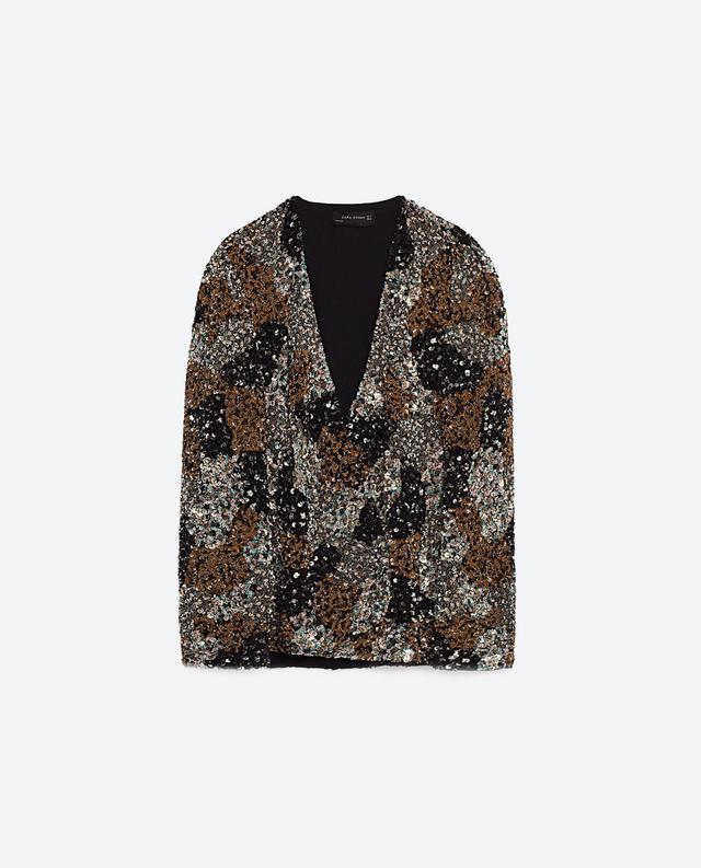 Zara Sequin Patchwork Jacket