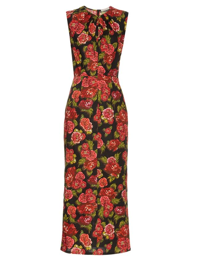 Emilia Wickstead Carrie Floral-Print Midi Dress