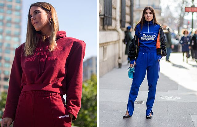 How to wear a tracksuit:  For the full look, you have to go all out