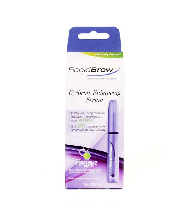 Growing out eyebrows: RapidBrow Eyebrow Enhancing Serum