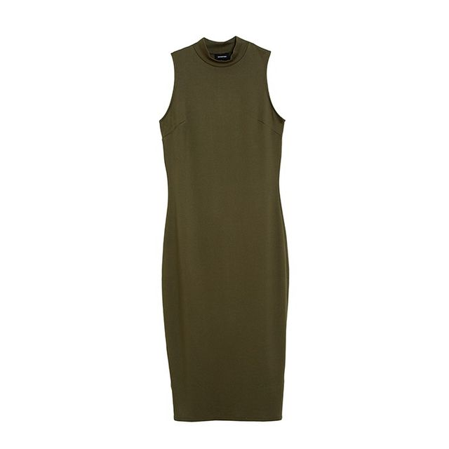 Who What Wear Mock Neck Dress