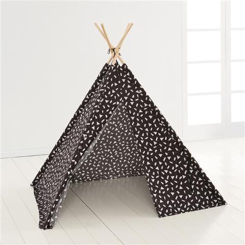 Kmart Printed Tee Pee Play Tent - Black & White