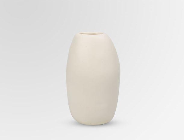 Dinosaur Designs Medium Resin Pebble Vase - Ivory
