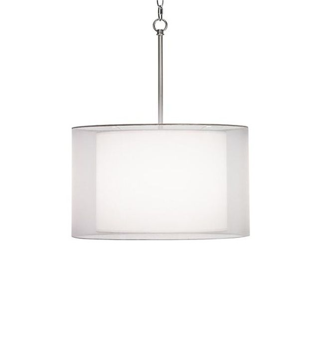 Possini Milan Double Shade Wide White Swag Pendant