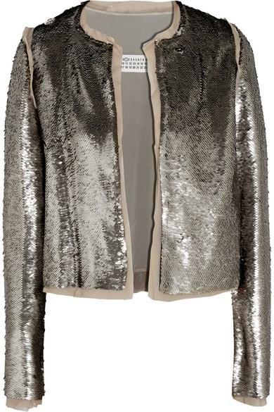 Maison Margiela Sequined stretch-crepe jacket