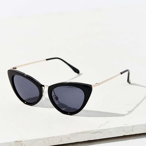 Retro Slim Cat-Eye Sunglasses