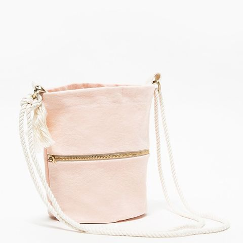 Mini Bucket Bag in Dusty Pink