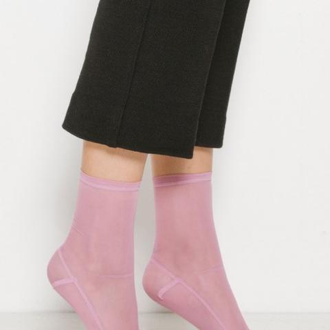 Pink Mesh Socks