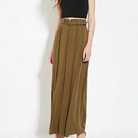 Contemporary Buttoned Maxi Skirt