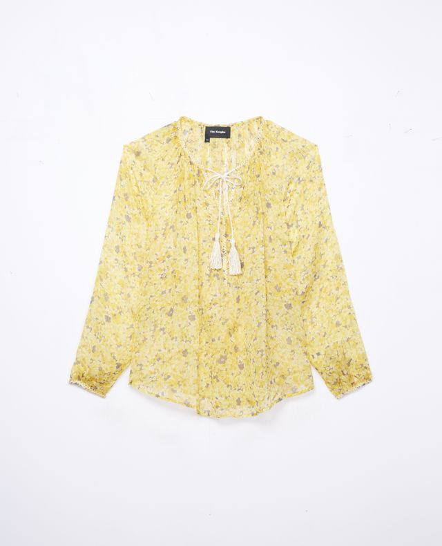The Kooples Silk Blouse With Mimosa Print