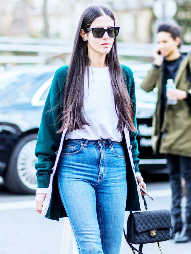 On Gilda Ambrosio:Céline sunglasses; Chanel bag. Style Notes: A long-line cosy cardigan is exactly what your boyfriend T-shirt and straight-leg jeans need to catapult them into...