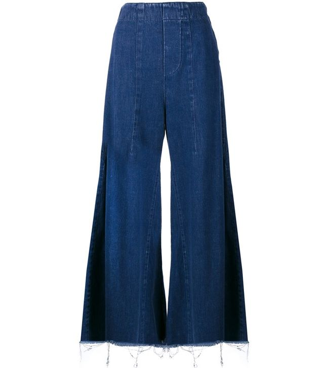 Chloé Acid-Wash Flared Jeans