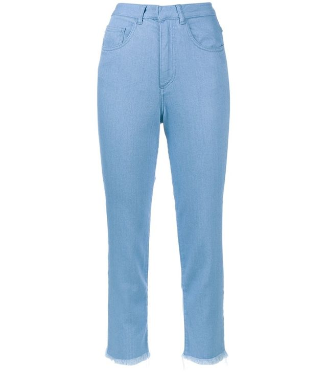 Topshop Unique Draycott Cropped High-Rise Skinny Jeans