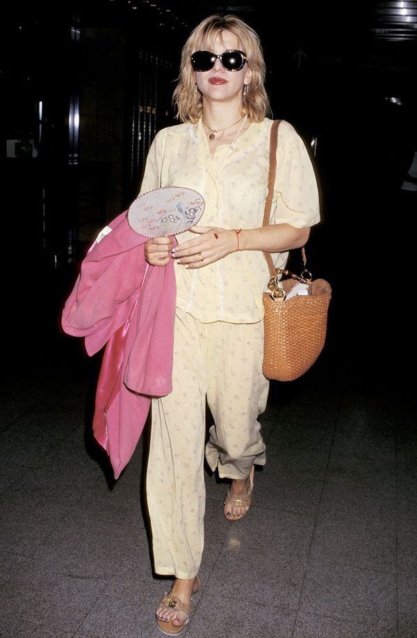 Courtney Love was a pioneer of the pajama dressing movement, so it seems.