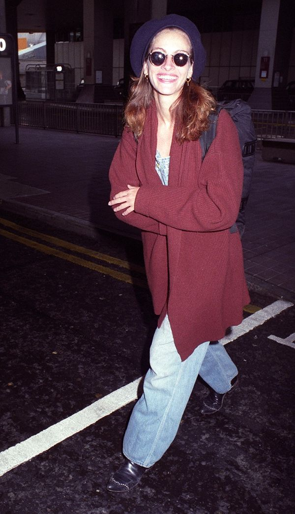 Who knew a beret and baggy jeans looked so amazing together? Julia Roberts, that's who.Want more inspiration? Check out these '70s travel photosthat will inspire some major wanderlust.