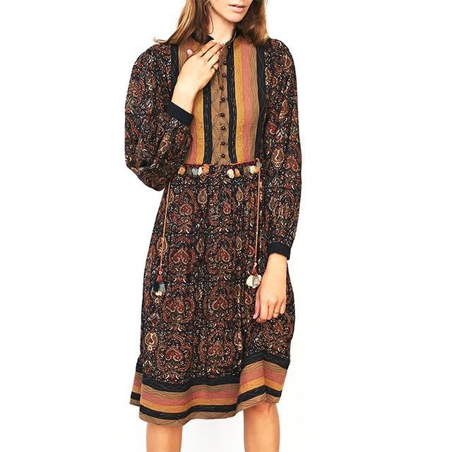 Vintage '70s Boho Printed Dress