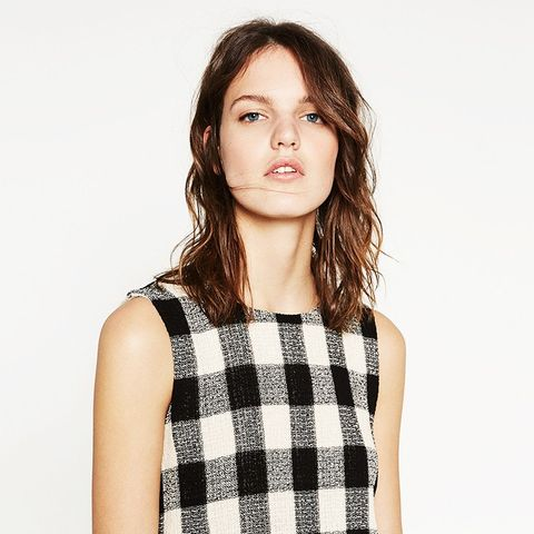 Frayed Check Top