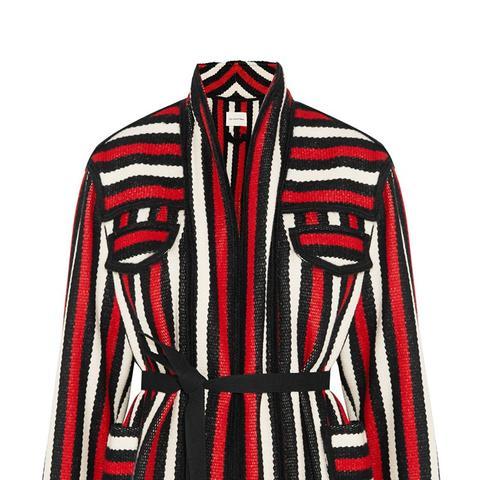 Breeda Striped Wool-Blend Jacket