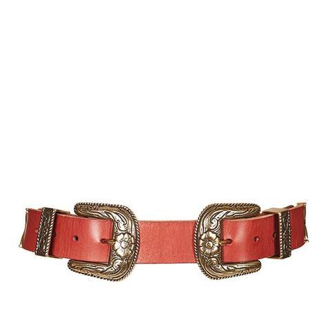 Wide Double Buckle Belt