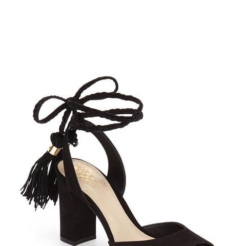 Vianna Block Heel Wraparound Ankle Tie Sandal