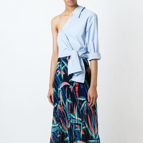 Double Layer Pleated Skirt