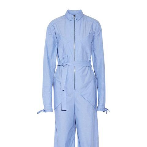 End-on-End Cotton-Poplin Jumpsuit