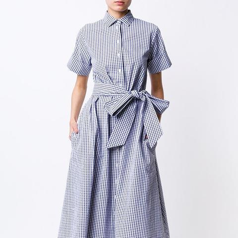 Gingham Check Shirt Dress
