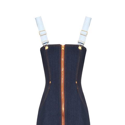 Bi-Colour Denim Dress