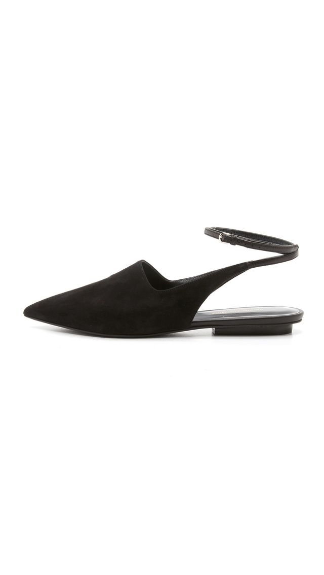 Narciso Rodriguez Chloe Lace Up Flats